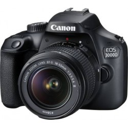 Canon EOS 3000D DSLR Camera 1 Camera Body, 18 - 55 mm Lens, Battery, Battery Charger, USB Cable  (Black)
