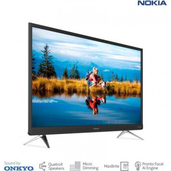 Nokia 80 cm (32 inch) HD Ready LED Smart Android TV with Sound by Onkyo  (32TAHDN)