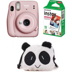 FUJIFILM Instax Mini 11 Instant Camera mini 11 Blush Pink with 10 Shot and Panda pouch Instant Camera(Pink)