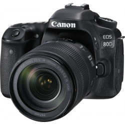 Canon EOS 80D DSLR Camera Body with Single Lens: EF-S 18-135 IS USM(Black)