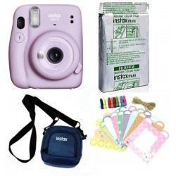 FUJIFILM Instax Mini Instax Mini 11 Purple with Pouch and 10x1 film Instant Camera With bunting2 Instant Camera(Purple)