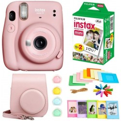 FUJIFILM instax mini 11 Instax Mini 11 Pink with 10x2 Film + Hanging Frames + Plastic Frames + Case + Close Up Filters Instant Camera(Pink)