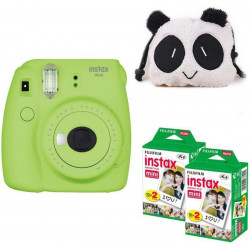 FUJIFILM Mini 9 Lime Green with panda Case and 40 Shots Instant Camera(Green)