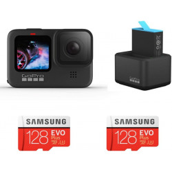 GoPro Hero 9 with Dual Battery Charger combo Sports and Action Camera(Black, 23.6 MP)