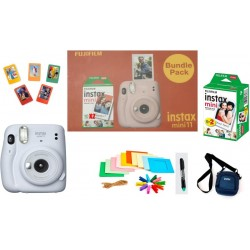 FUJIFILM Instax Mini 11 Bundle Pack (Ice White) with 20 Film shot and Carrying Case Instant Camera(Multicolor)