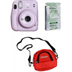 FUJIFILM Instax Mini 11 Lilac Purple with 10X1 Pack of Instant Film With Red Pouch Instant Camera(Purple)
