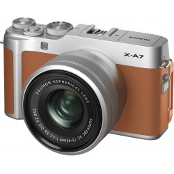 FUJIFILM X Series X-A7 Mirrorless Camera Body With 15-45 mm Lens(Brown)