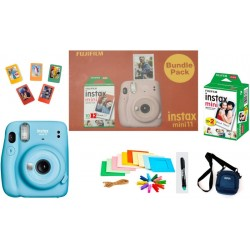 FUJIFILM Instax Mini 11 Bundle Pack (Sky Blue) with 20 Film shot and Carrying Case Instant Camera(Blue)