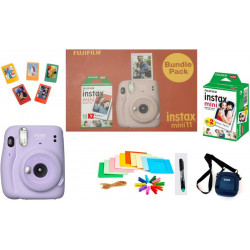 FUJIFILM Instax Mini 11 Bundle Pack (Lilac Purple) with 20 Film shot and Carrying Case Instant Camera(Multicolor)