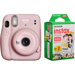 FUJIFILM Instax Mini 11 Blush Pink with Twin Pack Instant Camera(Pink)
