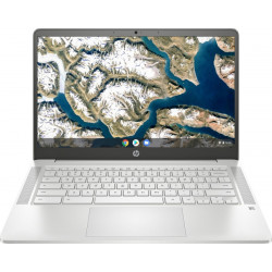 HP Chromebook 14a Celeron Dual Core - (4 GB/64 GB EMMC Storage/Chrome OS) 14a-na0003tu Thin and Light Laptop(14 inch, Mineral Silver, 1.46 kg)