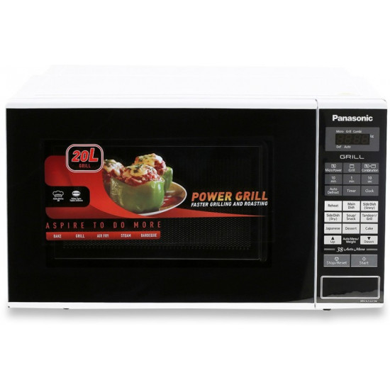 Panasonic 20 L Grill Microwave Oven(NN-GT221WFDG, White)