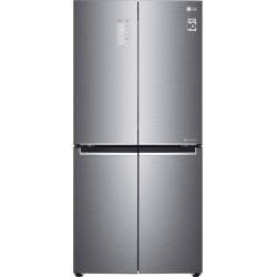 LG 594 L Frost Free Side by Side Refrigerator  with Four Door(Platinum silver 3, GC-B22FTLPL)
