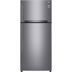 LG 516 L Frost Free Double Door 3 Star Refrigerator(Dazzle Steel, GN-H602HLHQ)