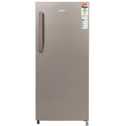 Haier 195 L Direct Cool Single Door 4 Star Refrigerator(DAZZLE STEEL, HED-20CFDS)