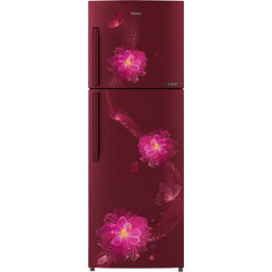 Haier 235 L Frost Free Double Door 3 Star Refrigerator(Red, HRF-2784CRB-E)