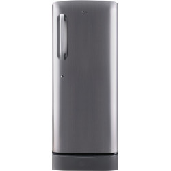LG 235 L Direct Cool Single Door 4 Star Refrigerator with Base Drawer(Shiny Steel, GL-D241APZY)