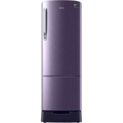 SAMSUNG 255 L Direct Cool Single Door 3 Star Refrigerator with Base Drawer(Pebble Blue, RR26T389YUT/HL)