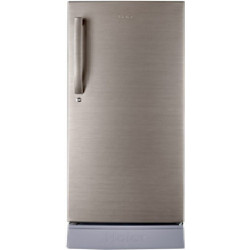 Haier 195 L Direct Cool Single Door 4 Star Refrigerator with Base Drawer(Brushed Silver, HRD-1954PBS-R/E)
