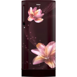 Haier 190 L Direct Cool Single Door 2 Star Refrigerator with Base Drawer(Red Serenity, HRD-1902PRS-E)