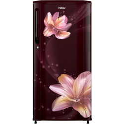 Haier 190 L Direct Cool Single Door 2 Star Refrigerator(Red Serenity, HRD-1902CRS-E)
