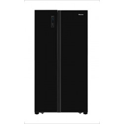 Hisense 690 L Frost Free Side by Side Refrigerator(BLACK CRYSTAL, RS826N4AGN)