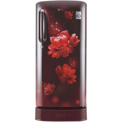 LG 190 L Direct Cool Single Door 4 Star Refrigerator with Base Drawer(Scarlet Charm, GL-D201ASCY)