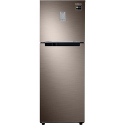 SAMSUNG 253 L Frost Free Double Door 2 Star Convertible Refrigerator(Luxe Brown, RT28T3722DX/NL)