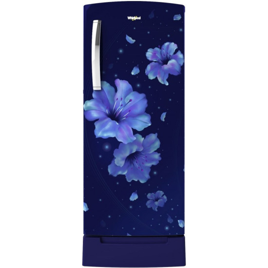 Whirlpool 200 L Direct Cool Single Door 4 Star Refrigerator with Base Drawer(Sapphire Hibiscus, 215 IMPRO ROY 4S INV Sapphire Hibiscus)