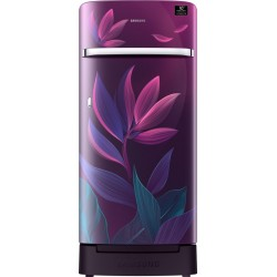 SAMSUNG 198 L Direct Cool Single Door 5 Star Refrigerator with Base Drawer(Paradise Purple, RR21T2H2W9R/HL)