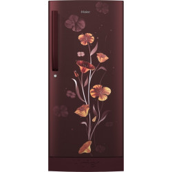 Haier 195 L Direct Cool Single Door 3 Star Refrigerator with Base Drawer(Red Freesia, HRD-1953CPRF-E)