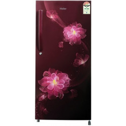Haier 195 L Direct Cool Single Door 4 Star Refrigerator(Red Blossom, HRD-1954CRB-E)