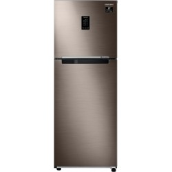SAMSUNG 336 L Frost Free Double Door 2 Star Refrigerator  with Curd Maestro(Luxe Brown, RT37T4632DX/HL)