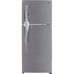 LG 260 L Frost Free Double Door Top Mount 3 Star Convertible Refrigerator(Shiny Steel, GL-T292RPZX)