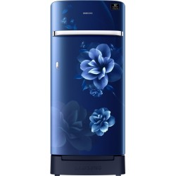 Samsung 198 L Direct Cool Single Door 3 Star (2020) Refrigerator with Base Drawer(Camellia Blue, RR21T2H2YCU/HL)