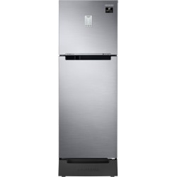 SAMSUNG 253 L Frost Free Double Door 2 Star Convertible Refrigerator with Base Drawer(Elegant Inox(Light DOI Metal), RT28T3822S8/HL)