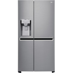 LG 668 L Frost Free Side by Side Refrigerator  with with Hygiene Fresh+ and Smart ThinQ(WiFi Enabled)(Platinum Silver 3, GC-L247CLAV)