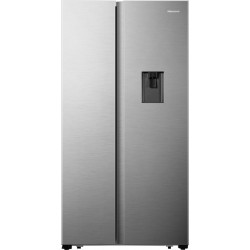 Hisense 566 L Frost Free Side by Side Refrigerator(STAINLESS STEEL, RS670N4ASN)