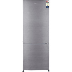 Haier 320 L Frost Free Double Door Bottom Mount 2 Star Refrigerator(Brushline Silver, HRB-3404BS-R/E)