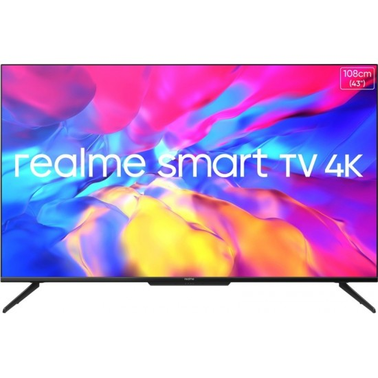 realme 108 cm (43 inch) Ultra HD (4K) LED Smart Android TV with Handsfree Voice Search and Dolby Vision & Atmos(RMV2004)