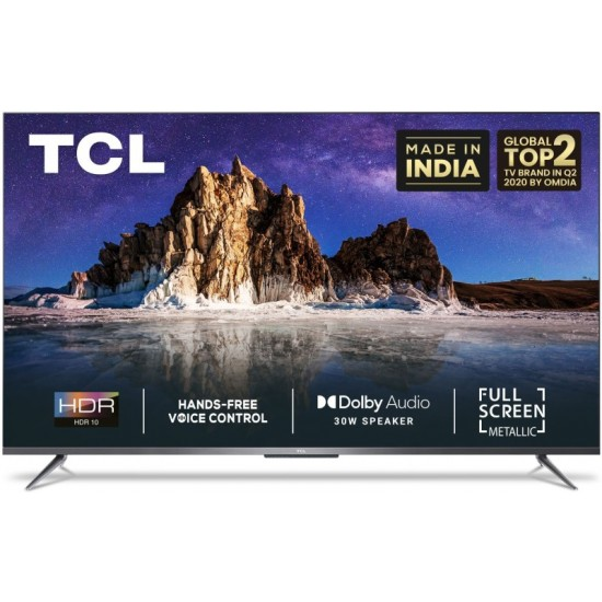 TCL P715 164 cm (65 Inch) Ultra HD (4K) LED Smart Android TV with Full Screen & Handsfree Voice Control(65P715)