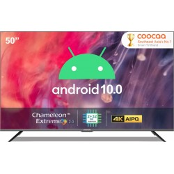 Coocaa 127 cm (50 inch) Ultra HD (4K) LED Smart Android TV with 10.0 Q(50S6G Pro)
