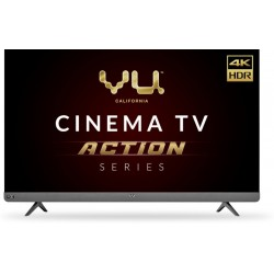 Vu Cinema TV Action Series 139 cm (55 inch) Ultra HD (4K) LED Smart Android TV with Sound by JBL(55LX)