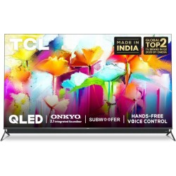 TCL C815 Series 139 cm (55 inch) QLED Ultra HD (4K) Smart Android TV With Integrated 2.1 Onkyo Soundbar(55C815)