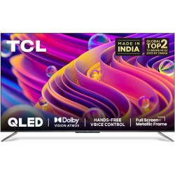 TCL C715 Series 164 cm (65 inch) QLED Ultra HD (4K) Smart Android TV with Handsfree Voice Control & Dolby Vision & Atmos(65C715)