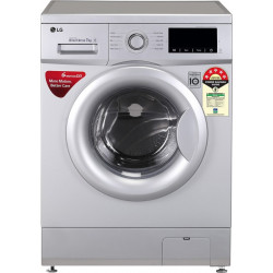 LG 7 kg Fully Automatic Front Load with In-built Heater Silver(FHM1207ADL)