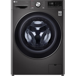 LG 10.5/7 kg Inverter Wi-Fi with with Allergy care Washer with Dryer with In-built Heater Black(FHD1057STB)