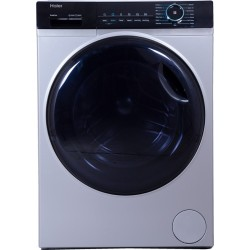 Haier 8 kg Fully Automatic Front Load with In-built Heater Silver(HW80-IM12929C3)