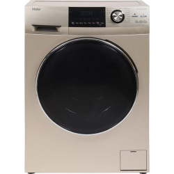 Haier 7.5 kg Fully Automatic Front Load with In-built Heater Gold(HW75-BD12756NZP)