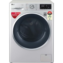 LG 8 kg Fully Automatic Front Load with In-built Heater Silver(FHT1408ANL)